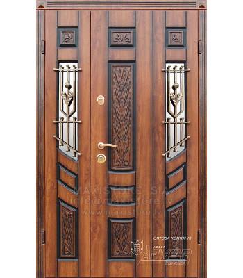 Металлическая дверь с отделкой MDF AGNIA (AP1) 1200x2050 (Золотой Дуб Патина)