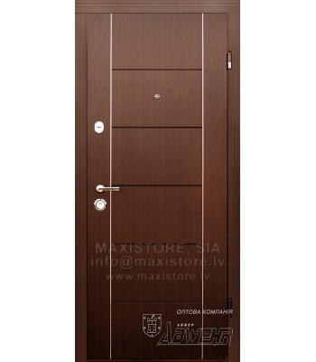 Металлическая дверь с отделкой MDF Deleria (Венге)