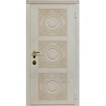 Metāla durvis ar MDF apdari MERLIN (Balta patina)