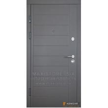 Metāla durvis ar MDF apdari Palermo
