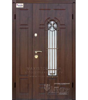 Металлическая дверь с отделкой MDF ARTEMIDA (AP1) 1200x2050 (Темный Дуб)