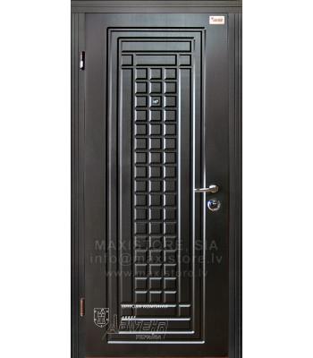 Metāla durvis ar MDF apdari AMIRA (Venge/Venge gaiša)