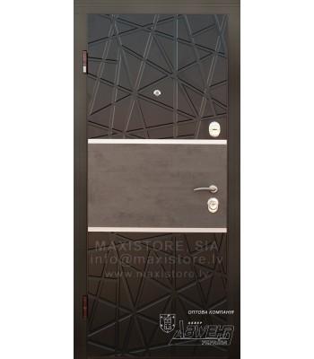 Металлическая дверь с отделкой MDF Deinna (Венге/Венге светлый)