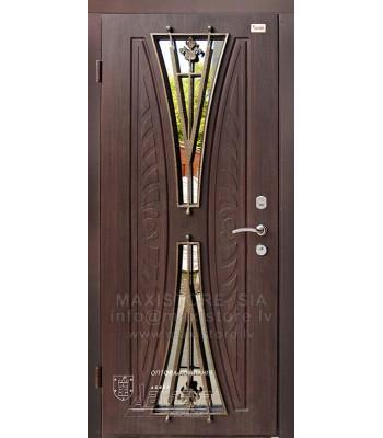 Металлическая дверь с отделкой MDF AURELIA-S (AP1) (Темный Дуб)