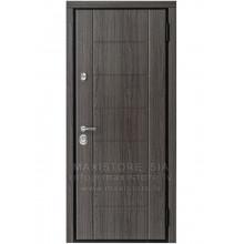 Metāla durvis ar MDF apdari Nika-S