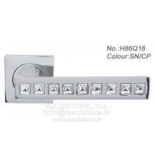 Durvju rokturis H86Q16 (chrome/metalic)