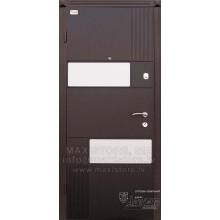 Metāla durvis ar MDF apdari STYLE GLASS (Venge)