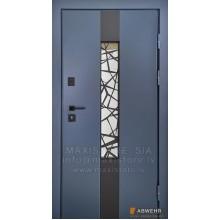 Metāla durvis ar apdari  Lampre - 3