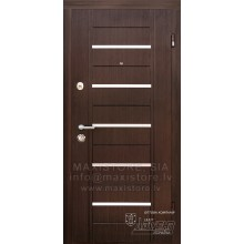 Metāla durvis ar MDF apdari Alesto (Venge)