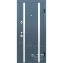Metāla durvis ar MDF apdari Trim