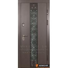 Metāla durvis ar MDF apdari Alessandra Glass (CT)