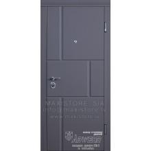 Metāla durvis ar MDF apdari Ellisa